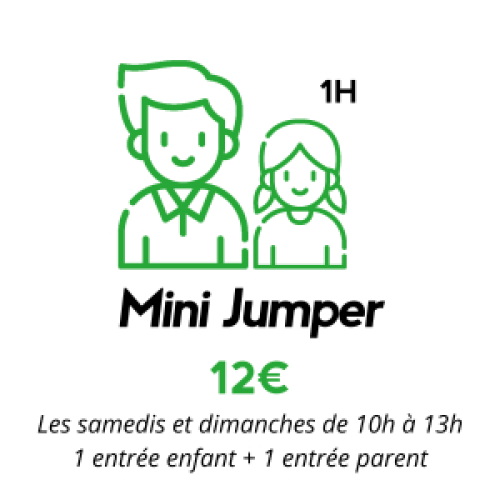 Session mini jump (enfant + parent) 1H (4 à 5 ans)